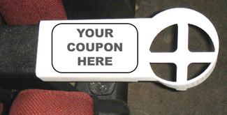 original cup holder design, cardboard or paper coupon